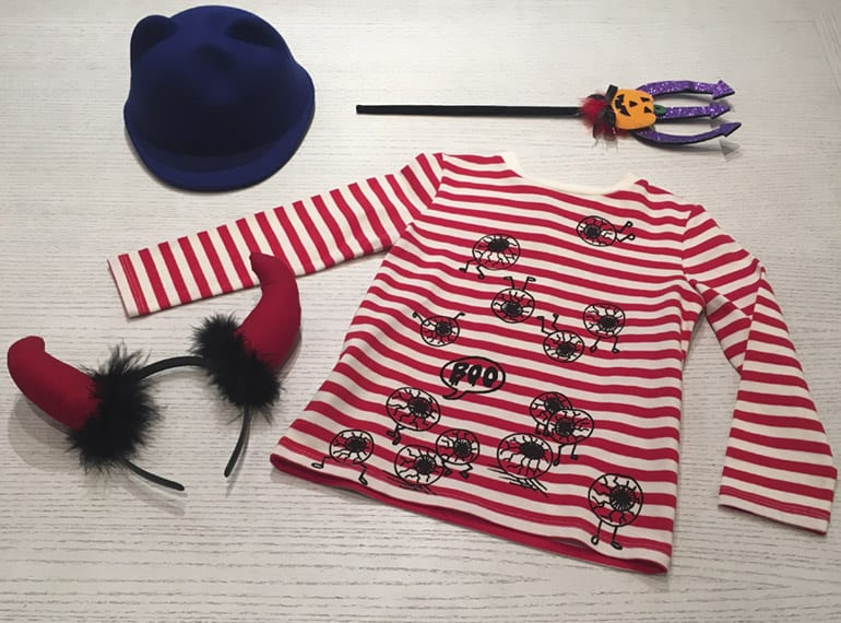 Fancy a Stella McCartney Kids t-shirt and a Little Eleven Paris hat for Halloween?
