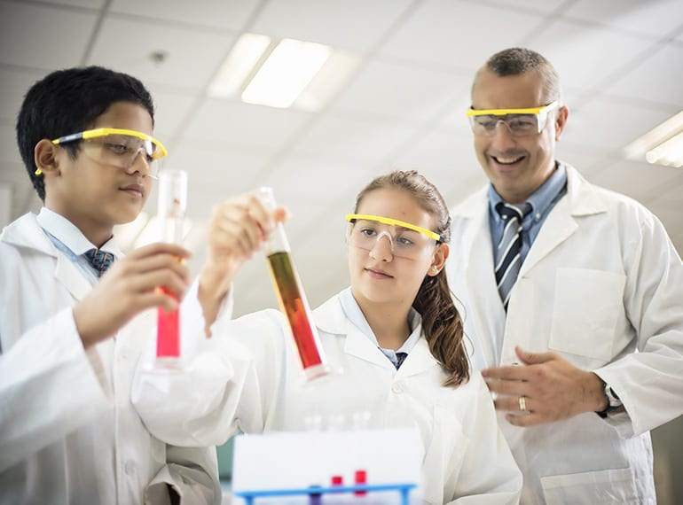 STEM at GWA gives students access to cutting-edge research and technologies.