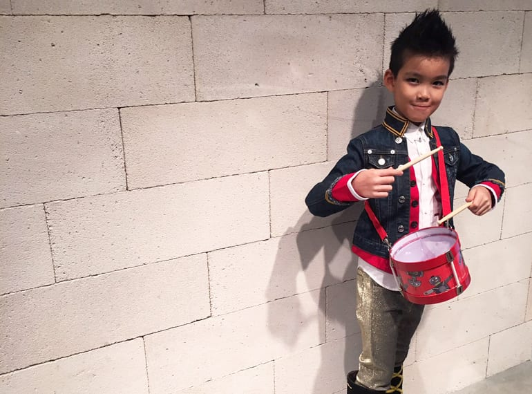 This little drummer boy has been shopping the Halloween edit on Kids 21!