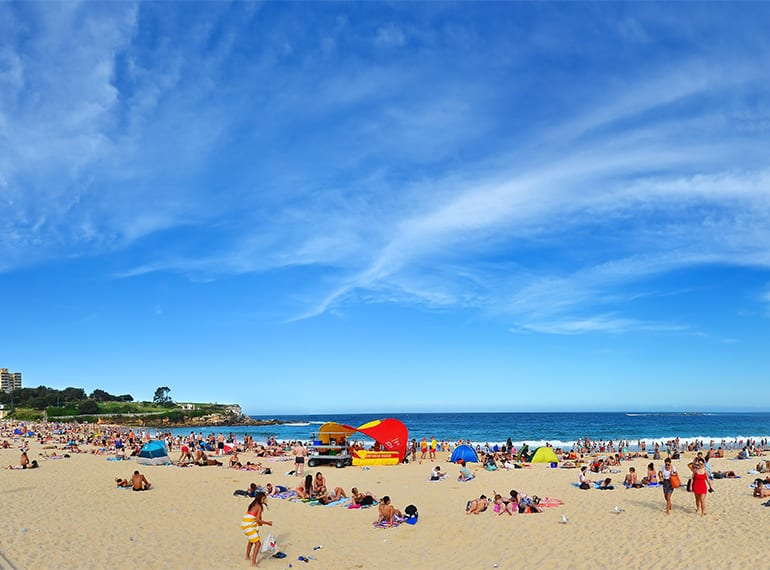 Spend Xmas Day building sandcastles on beautiful Coogee Beach in Sydney