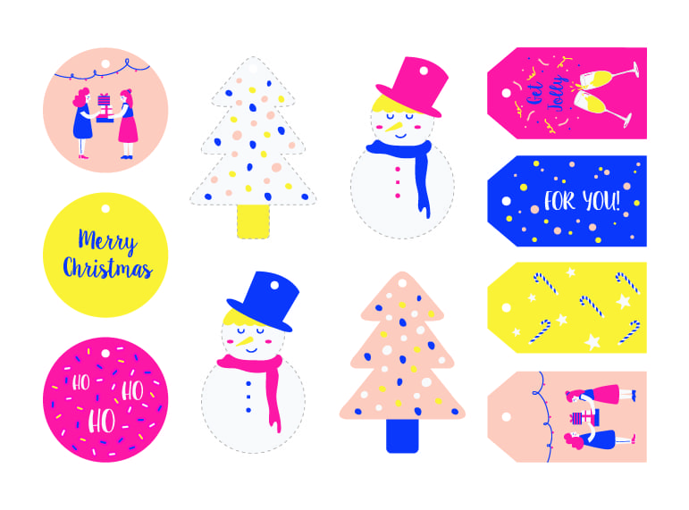 Free christmas gift tags to download print and colour with the kids honeykids free printables christmas gift tags negle Gallery