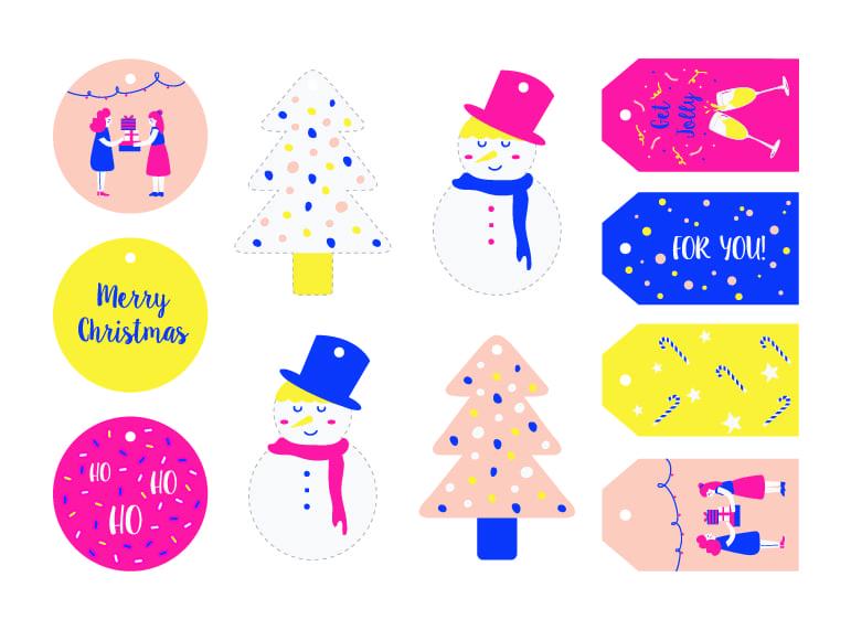 HoneyKids free printables: Christmas gift tags