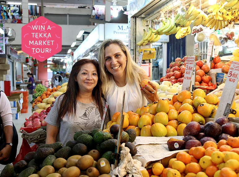 Calling all foodies! We're taking 30 lucky readers on a walking tour of Tekka Market with Karni Tomer (right) of Wok'n'Stroll!