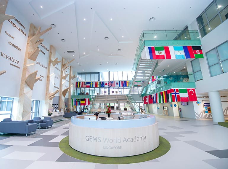Just a glimpse of the impressive facilities at GEMS World Academy.