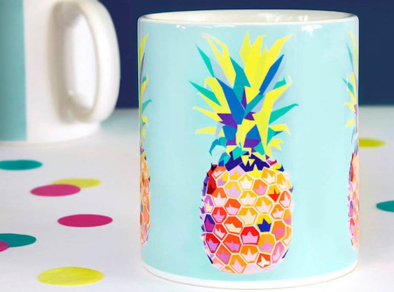 Bring a touch of the tropics to your day with this funky mug. Photo credit: We Are Paper Plane via Etsy