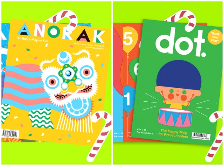 Festive bundles: A sweet way to start a little collection of ANORAK and DOT magazines.