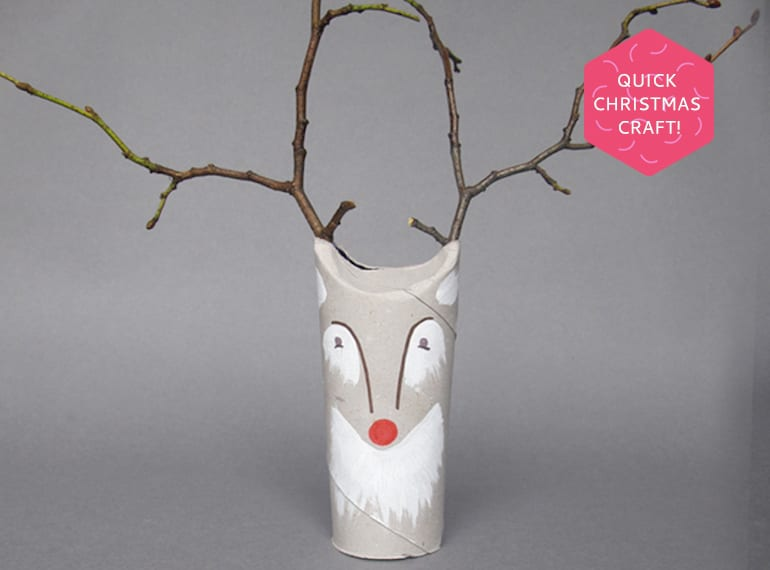We're loving this awesome toilet roll reindeer by Ladyland.