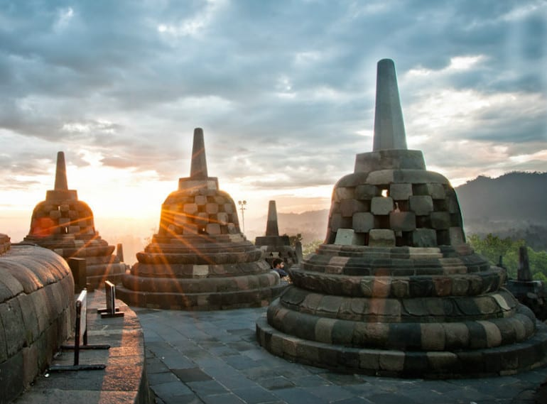 A historical adventure playground for the kids? Head to Borobudur Temple in Java for cultural fun by the bucketload. Sunrise over Borobudur. Photo credit: Justine Hong on Flickr