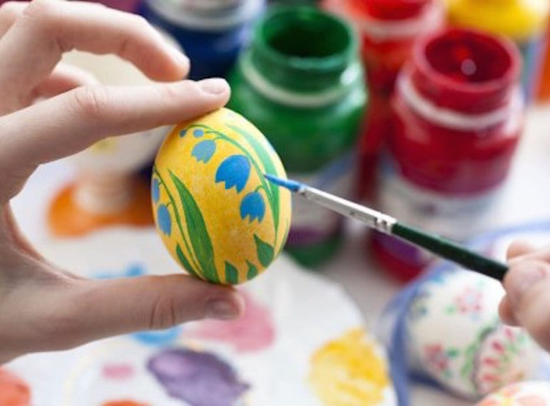 Paint a prosperity egg at the Spring Surprise celebrations at Gardens by the Bay