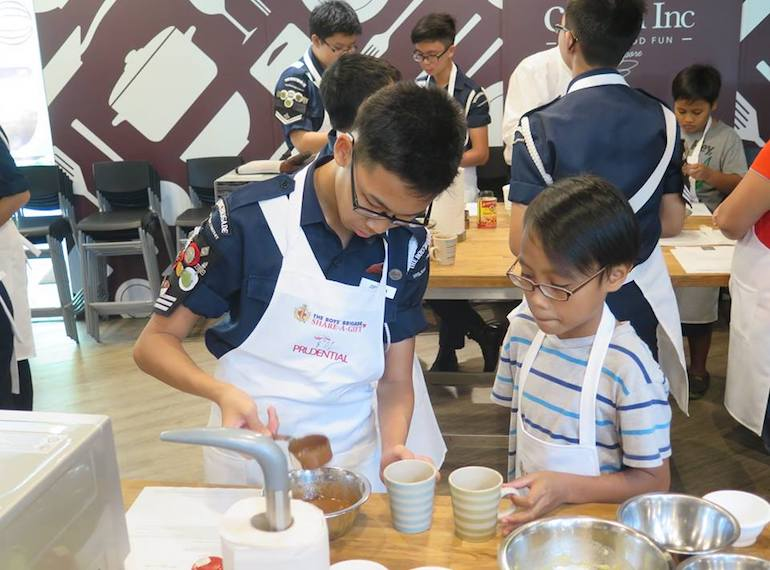 Boys Brigade Share a gift Honeykids Asia Singapore
