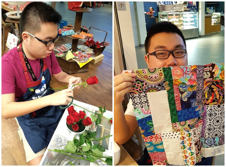 From flower arranging to sewing, Ryan Koh puts his skills to work at Mustard Tree.
