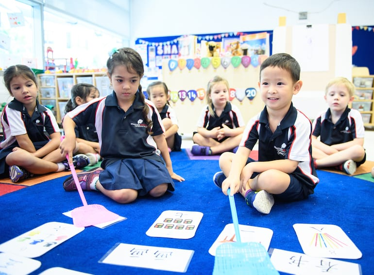 Stamford American International School Mandarin lessons at Early Learning Village HoneyKids Asia