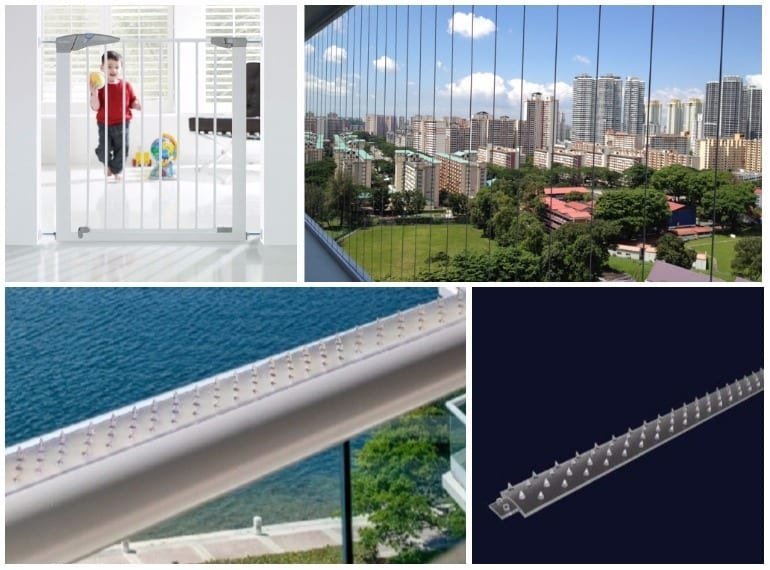 Safety guards and gates, Invisigrills and Anti Grabbity to balcony rails Singapore