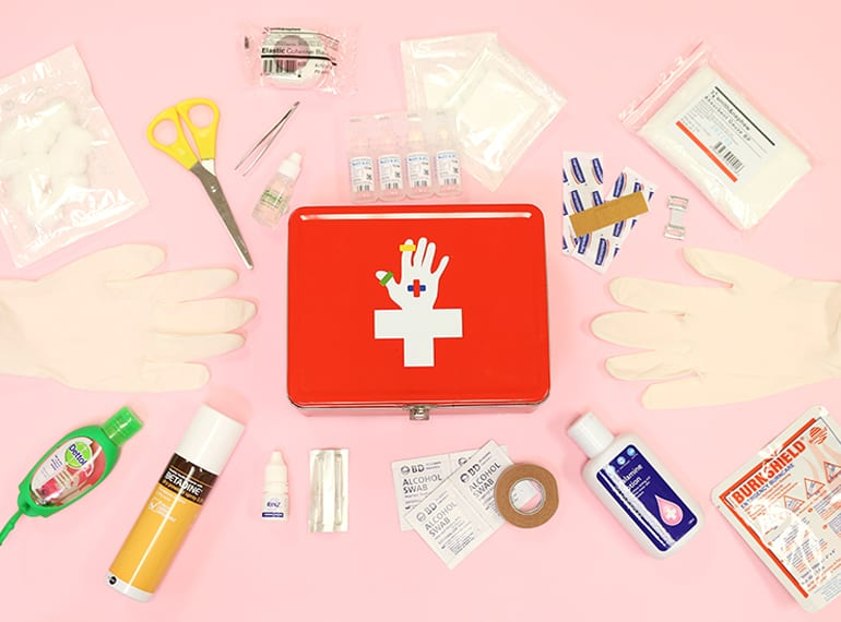 How to put together a first aid kit HoneyKids Asia