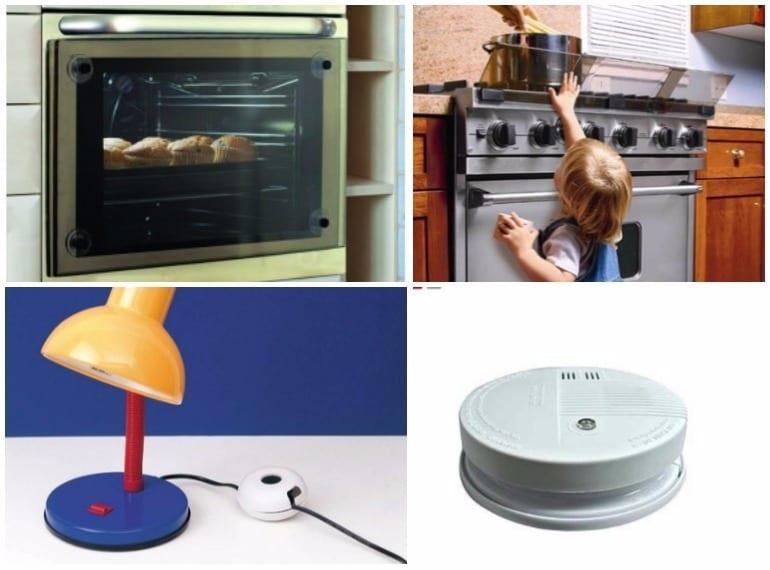 Oven guard, stove guard, cord shortener and smoke detector Singapore