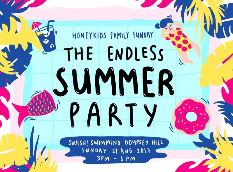 HoneyKids Family Funday Endless Summer Pool Party at Swish Swimming