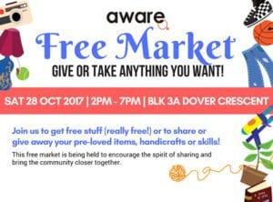 AWARE Free Market Honeykids Asia Singapore