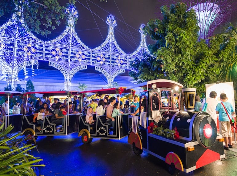 Christmas Train Christmas Wonderland Gardens by the Bay 2017 Honeykids Asia Singapore