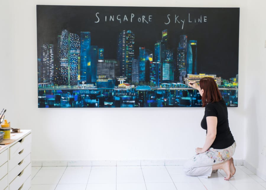 souvenirs of singapore clare haxby painting