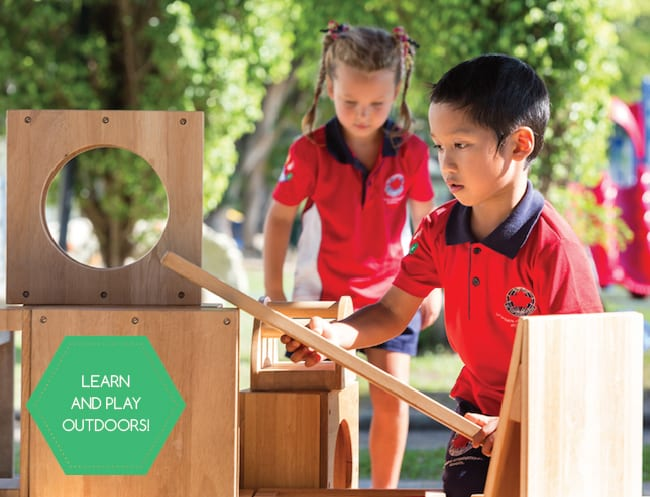 Outdoor play for kindergarten kids in Singapore: Canadian International School launching new space to play and learn
