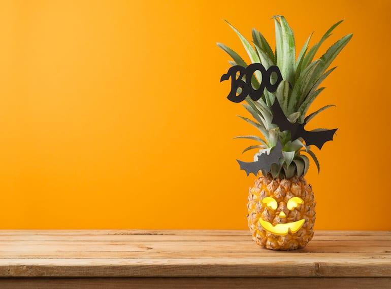 Pineapple Jack'o lantern
