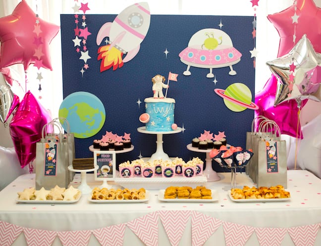 Cool Party Ideas For Kids A Girly Twist On A Space Themed Birthday