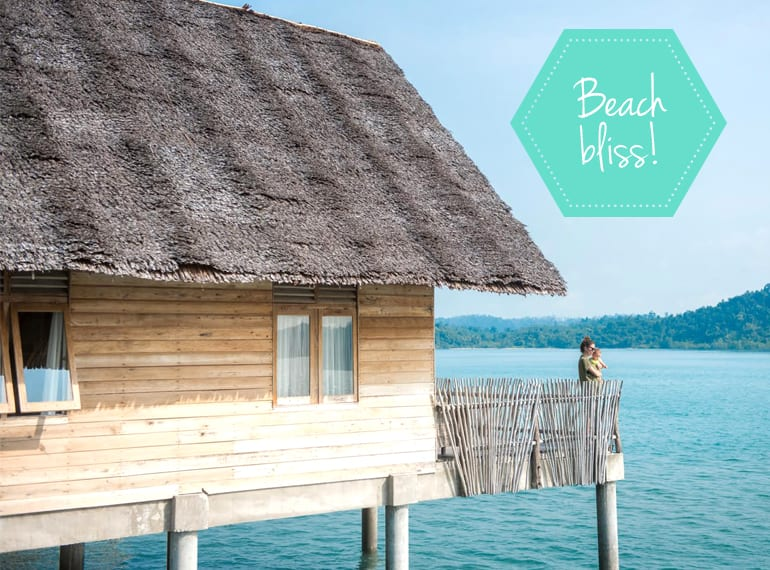 Family holidays: minibreak with a baby at Telunas private island near Singapore