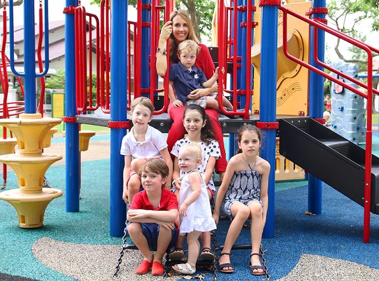Mum of six kids in Singapore