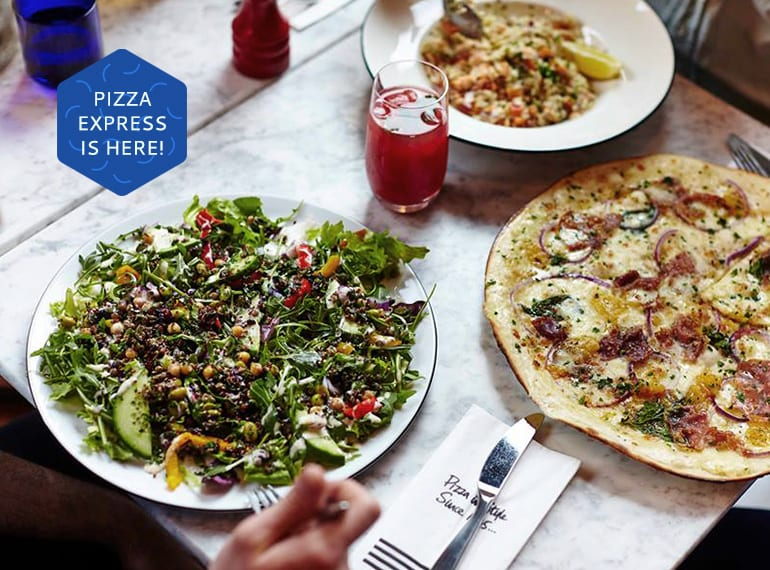 Pizza Express opens in Singapore, and yes there are dough balls! Read the HoneyKids review