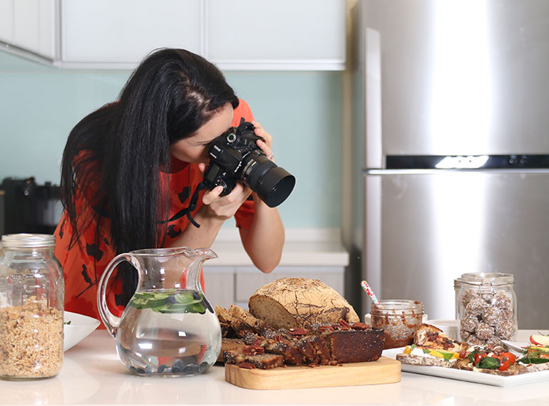 Terri-Anne shoots all of her own amazing recipes for her cookbooks and food blog, Carrotsticks & Cravings.