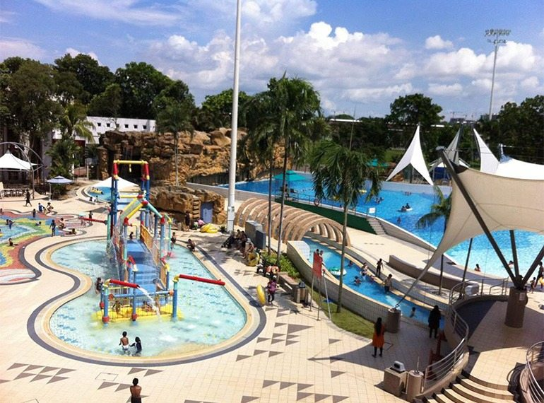 Best public swimming pools in Singapore, with water play features and slides