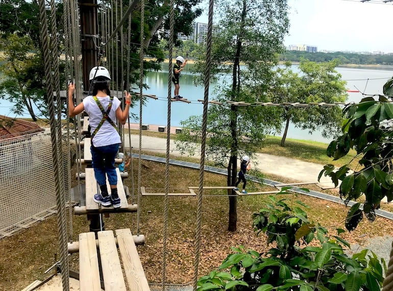 Best party venues for kids in Singapore: Forest Adventures