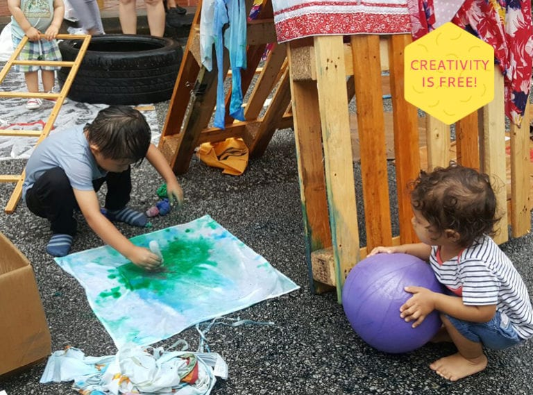 How to encourage your child's creativity: free play at Singapore's next Pop-Up Adventure Playground