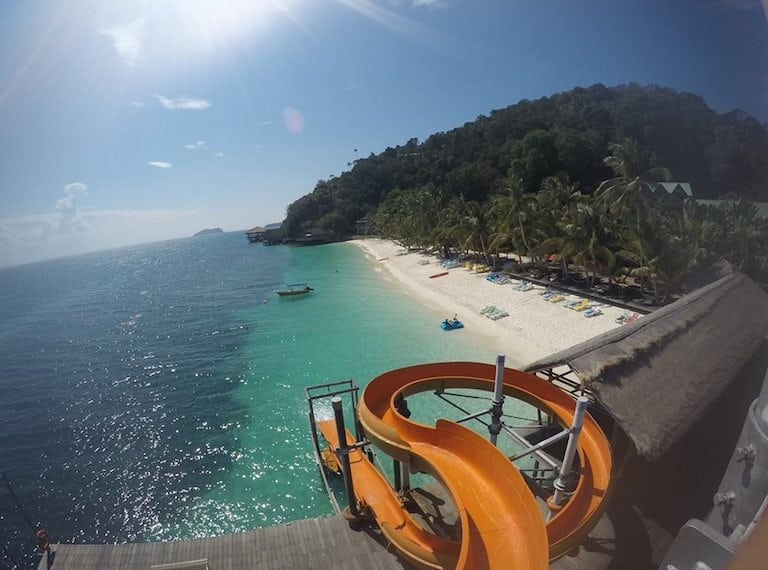 Rawa-Island-with-kids-Slides