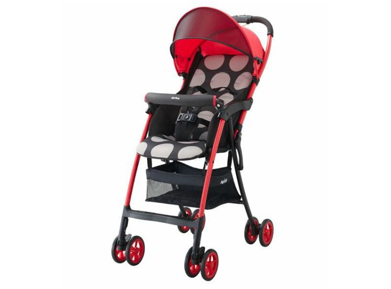 ApricaMagicalAirHSRed-L1 lightweight travel strollers Honeykids Asia Singapore