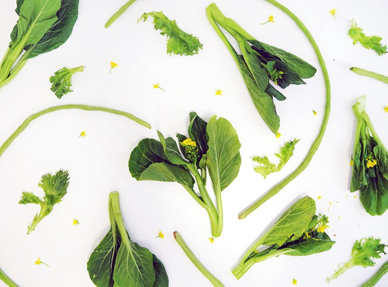 Eat more Asian greens, which are cheaper than imported vegetables like broccoli