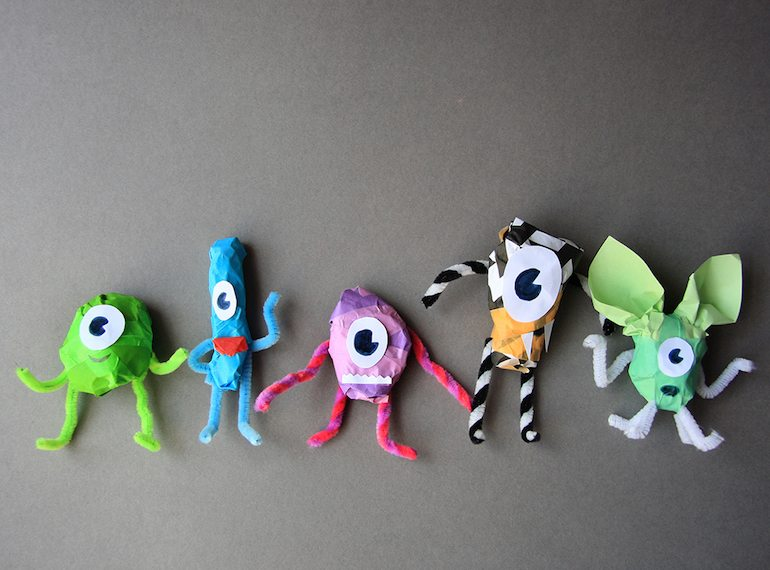 Make your own monsters! If your kids love craft, load up on supplies at Daiso for $2 a pop!
