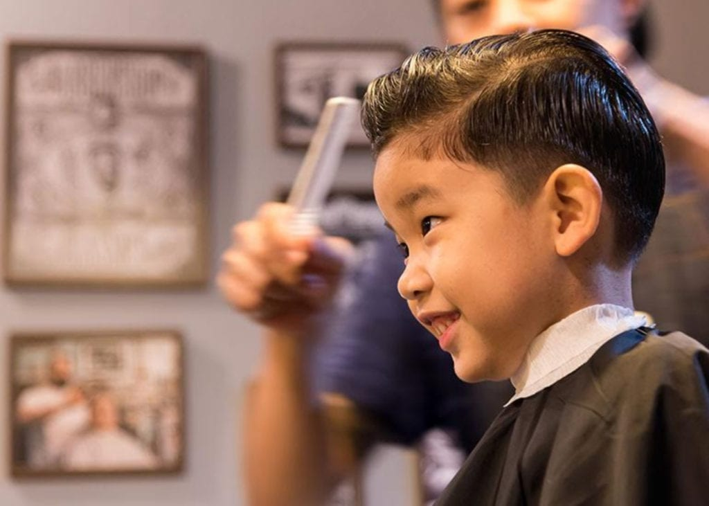 kids hairdressers for cool hair cuts in Singapore