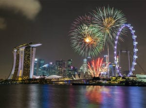 Where to watch the fireworks in Singapore with kids on National Day