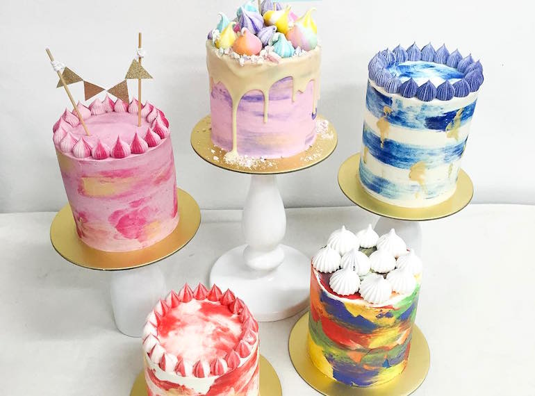 Art Birthday Cake Toppers