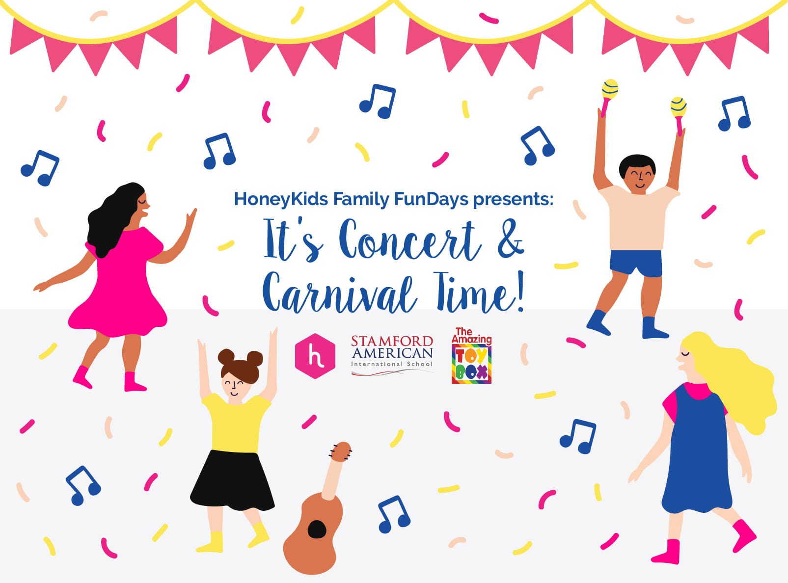 You're invited to the HoneyKids Family FunDays concert and carnival!