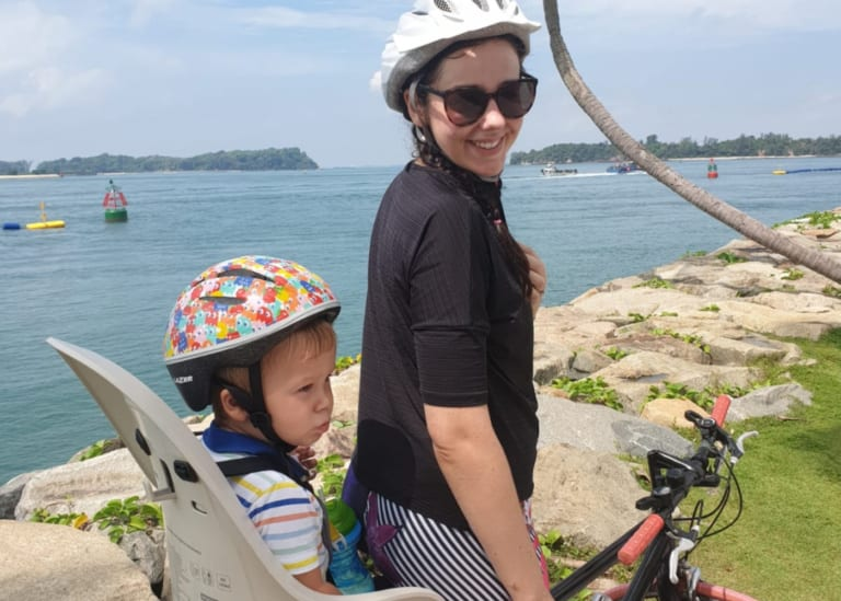 Cycling with kids in Singapore: riding your bike with babies and toddlers on board