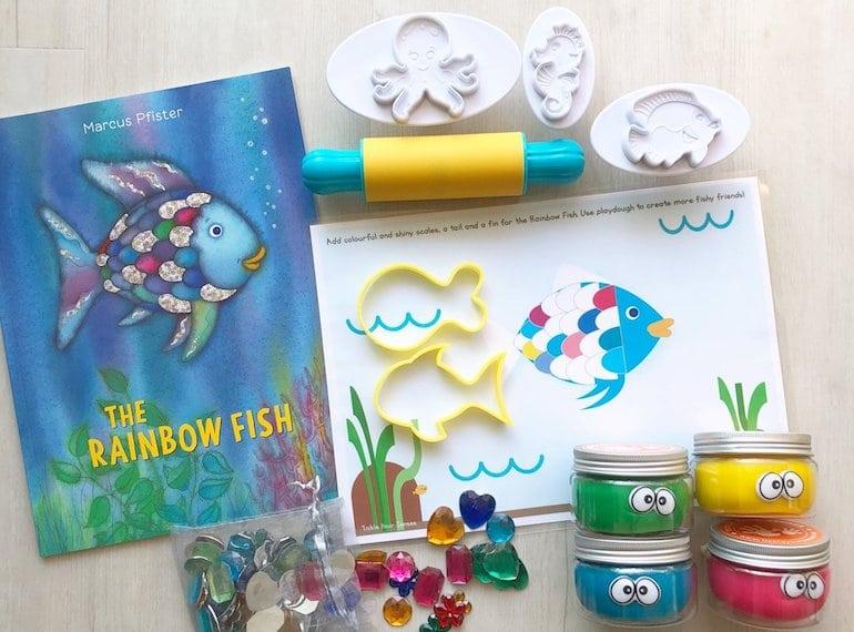 Rainbow Fish Playdough Kit Tickle Your Senses Honeykids Asia Singapore