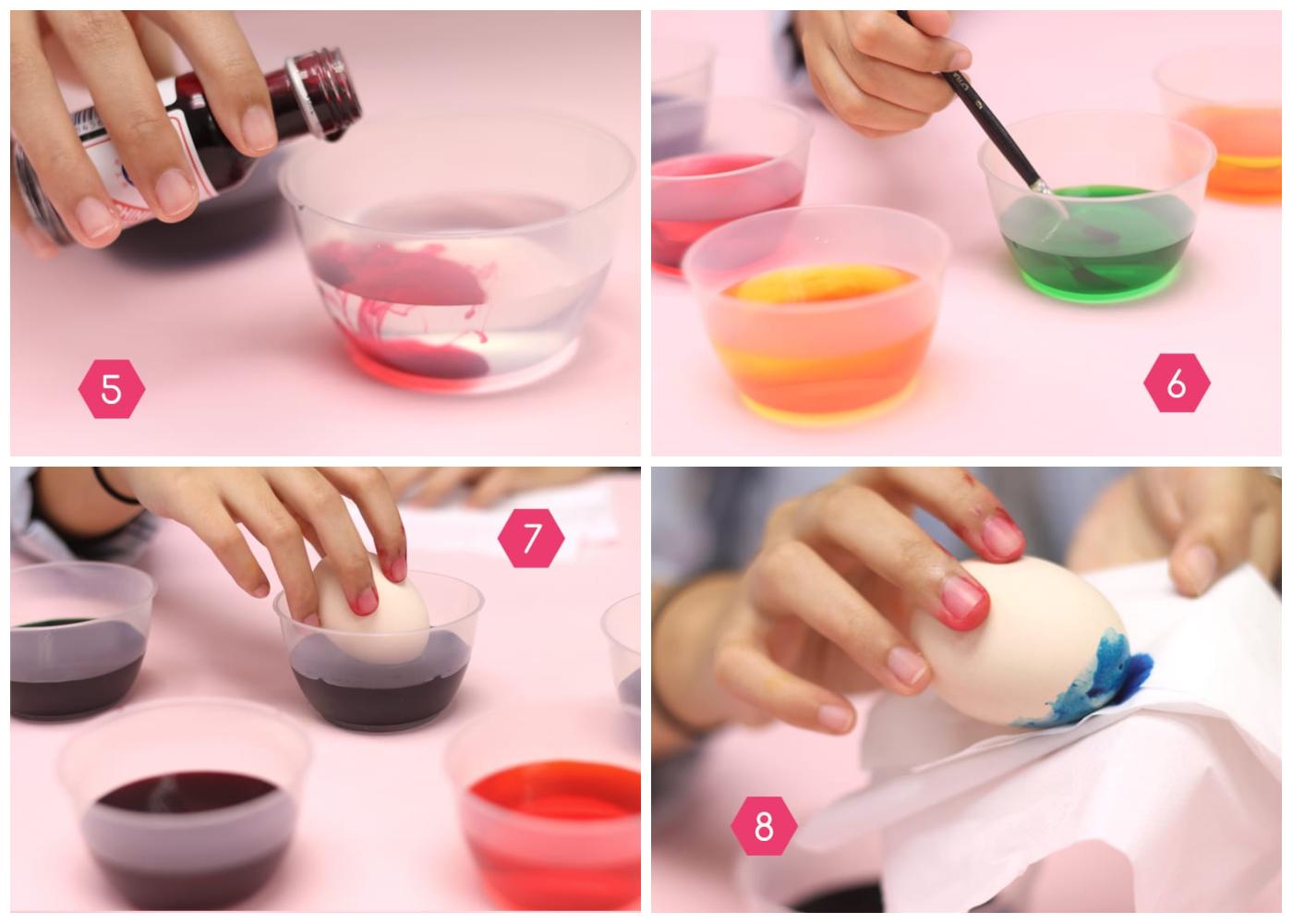 rainbow eggs method