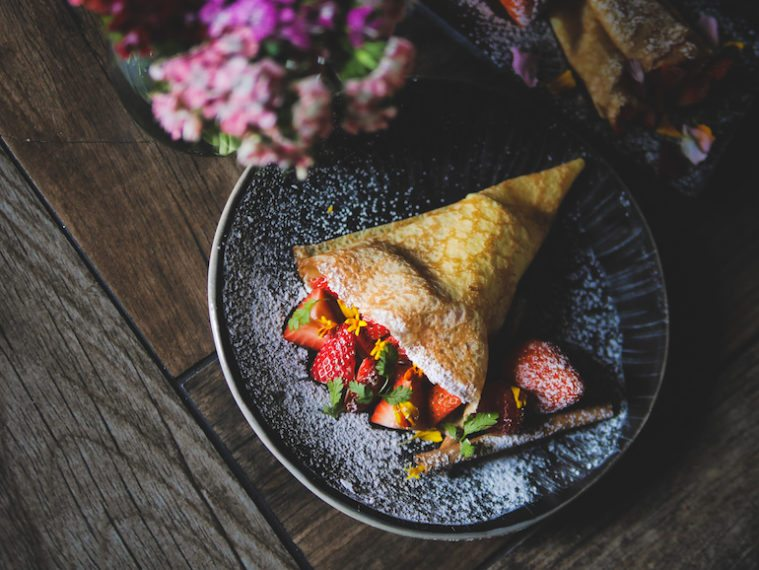 Fresh made-to-orde crepes stuffed with your choice of filling are going to be a hit with the kids.