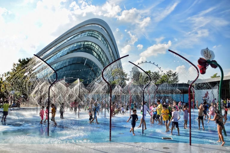 Free water play in Singapore: fountains, splash pads and wading pools for kids