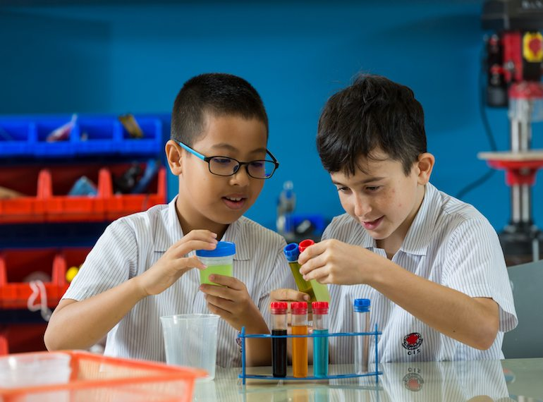 CIS Science learning in the classroom Honeykids Asia Singapore