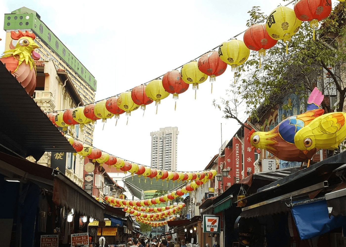 chinatown lanterns Free things to do with kids in Singapore