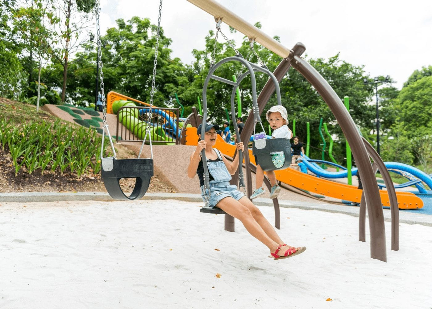 mum-and-kid-on-a-swing-admiralty-park Free things to do with kids in Singapore