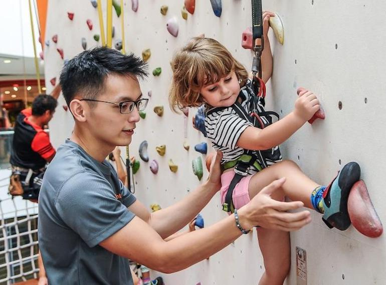 Climb Central Rock climbing in Singapore Honeykids Asia